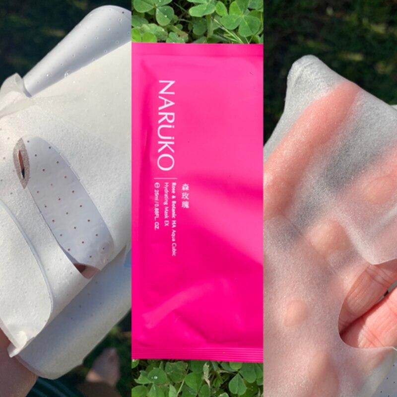 NARUKO Rose & Botanic HA Aqua Cubic Hydrating Mask EX 2
